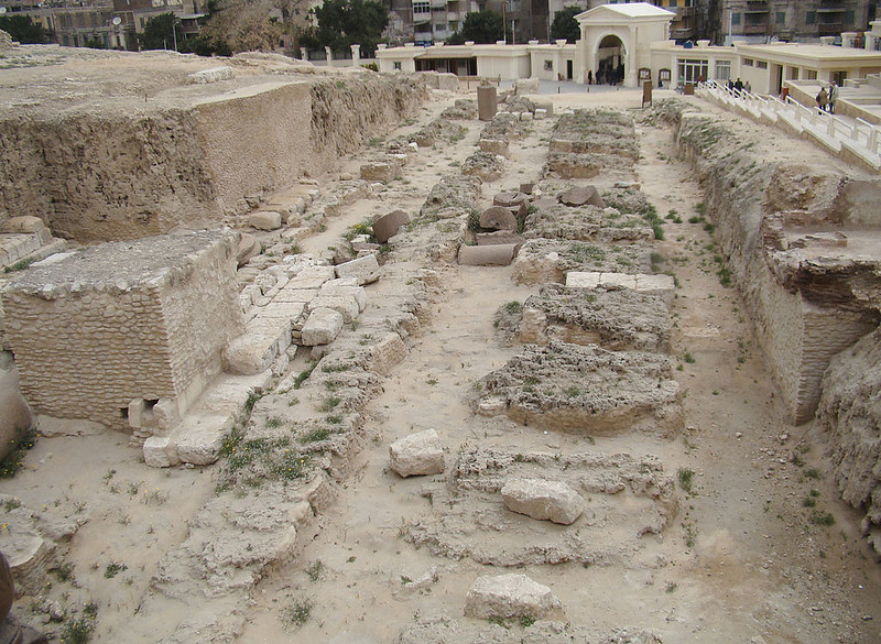 The remains of the ancient site of Sarapis, referred to as the daughter of the Library of Alexandria