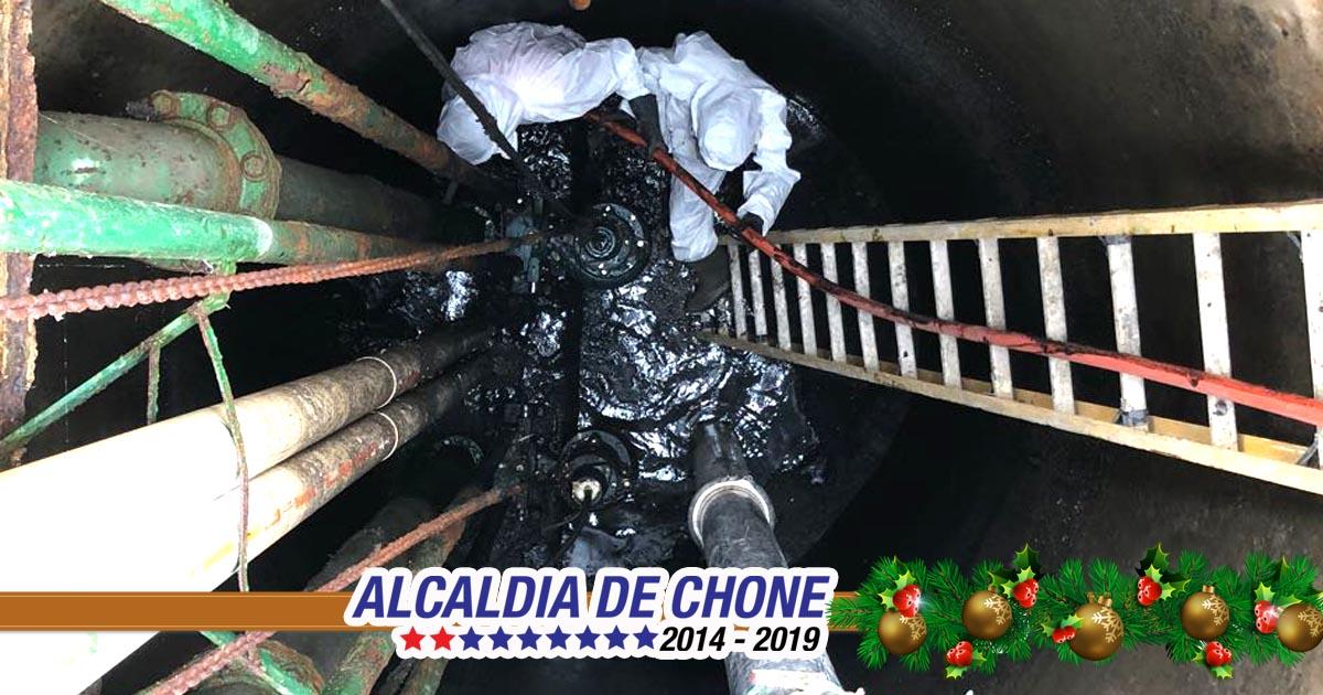 Aguas del Chuno realiza limpiezas en la estación de bombeo Amazonas