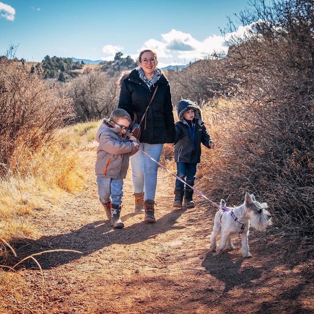 On a Christmas hike // #theboys #seamanfamilytrip