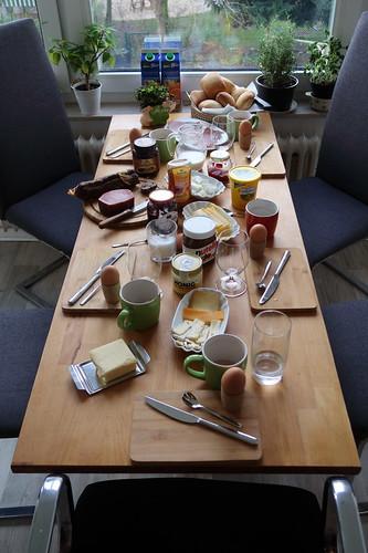 Spätes Frühstück am Neujahrstag