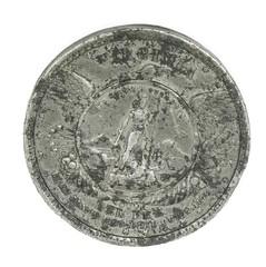 1871 Robert E. Lee Medal reverse