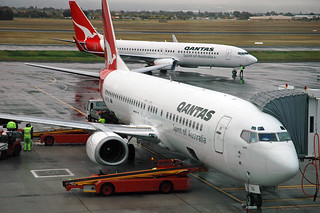Qantas Airways - Boeing 737 airplane (24 August 2006) (Adelaide Airport, South Australia) 2