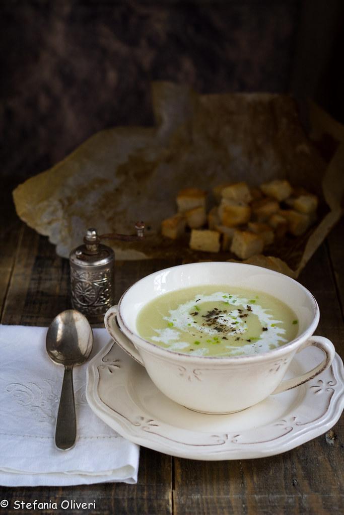 Vichyssoise zuppa di porri senza glutine-9168