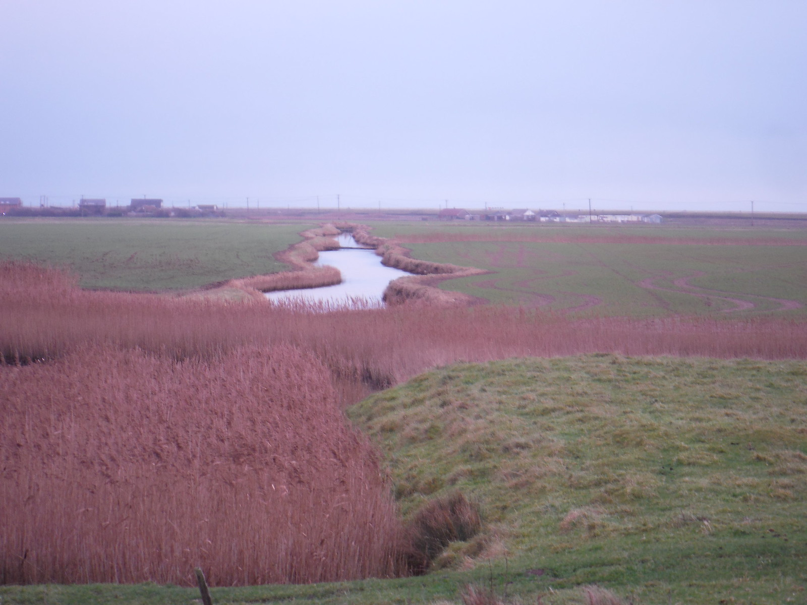 Creek on other side of Seawall, near Camber SWC 154 - Rye to Dungeness and Lydd-on-Sea or Lydd or Circular (Rye Ending)