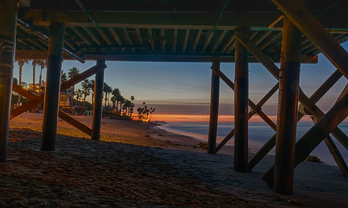 california hdr nikon nikond5300 pacificocean sanclemente sanclementepier beach clouds geotagged longexposure morning ocean palmtree palmtrees pier sand sky sunrise water unitedstates