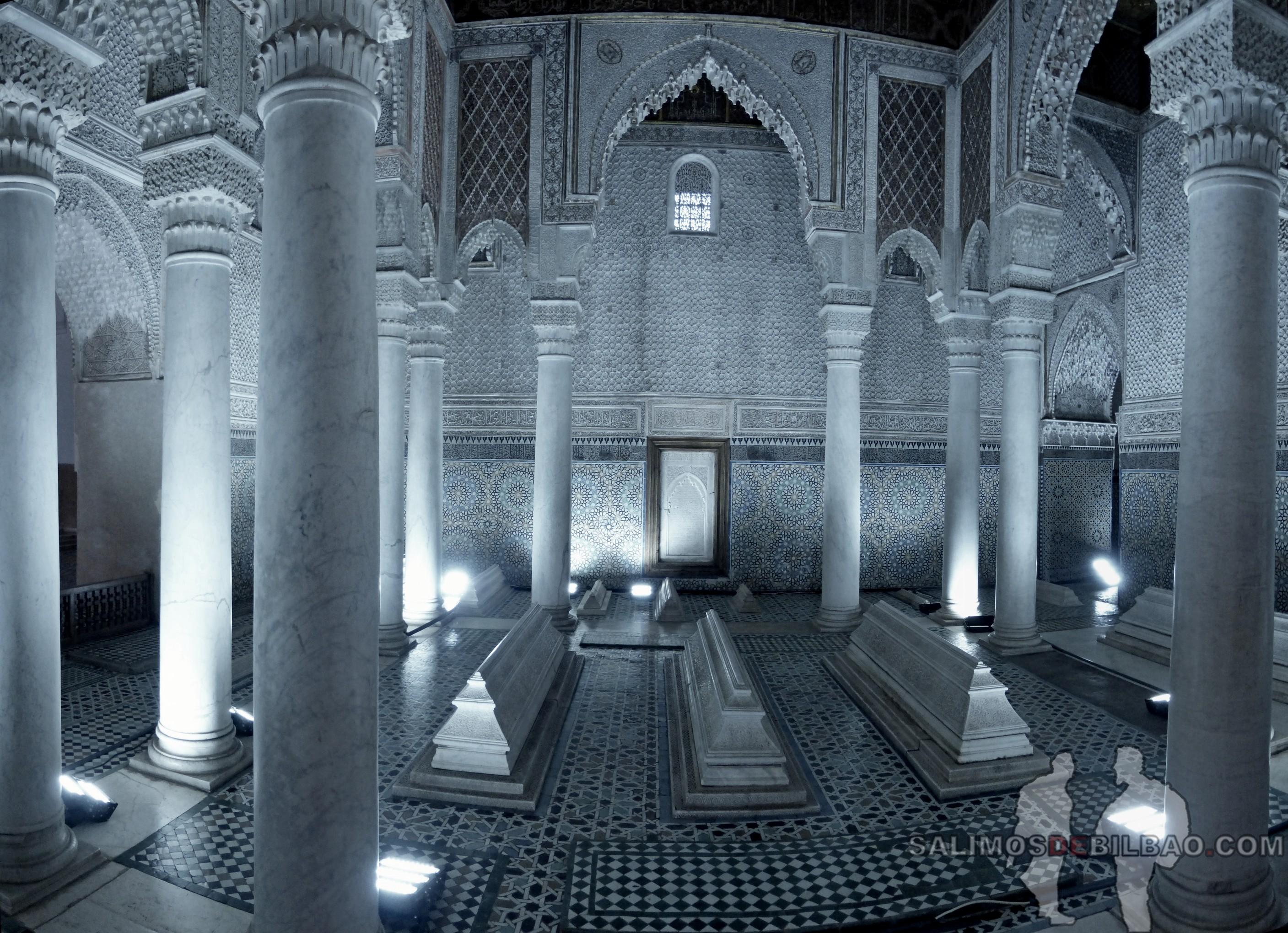 726. Pano, Tumbas saadíes, Marrakech