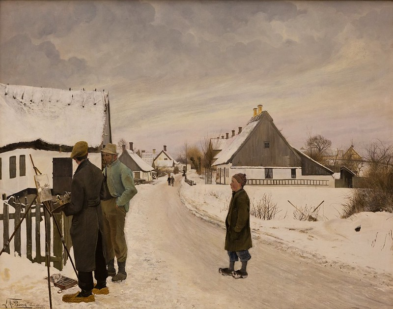 Laurits Andersen Ring - The Painter in the Village (1897)