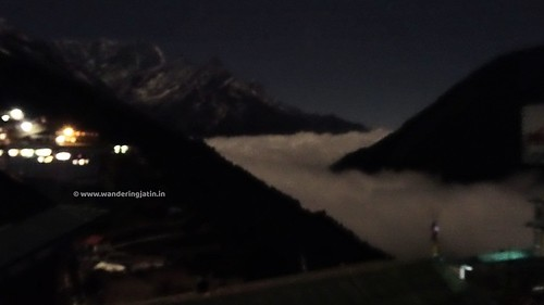 River of clouds at Namche