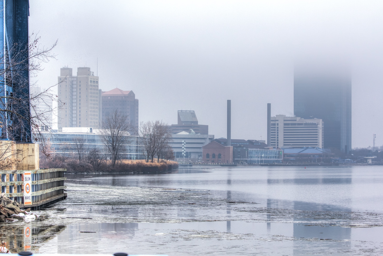 Foggy Downtown Toledo