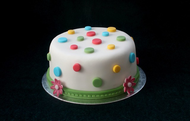 Chocolate & Fondant Birthday Cake
