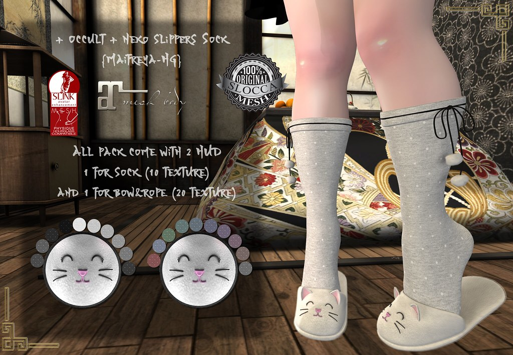 + Occult + Neko slippers Sock {Maitreya-HG}