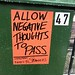 Allow negative thoughts to pass