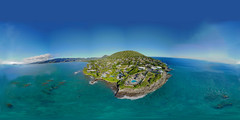 China Walls at Portlock on the Eastern slope of Koko Head from 201 feet - an aerial 360 Equirectangular VR shot with the Litchi Pano from Kuokoa, my DJI Mavic Pro