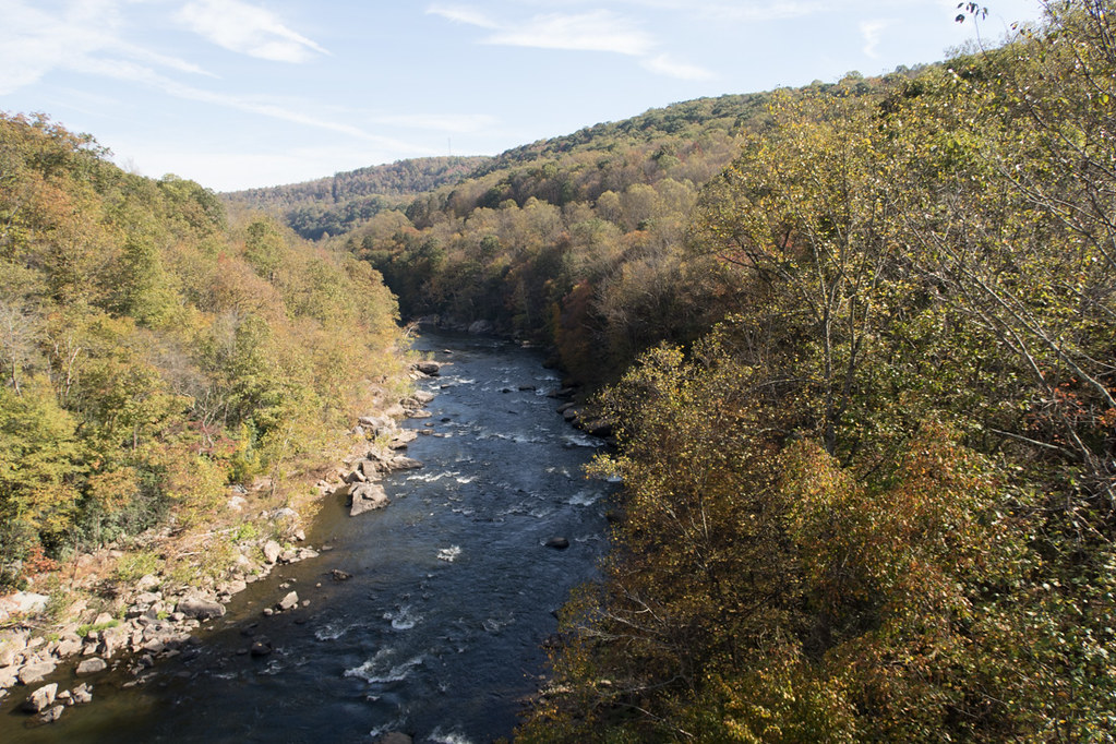 Views from high bridge at Ohiopyle State Park