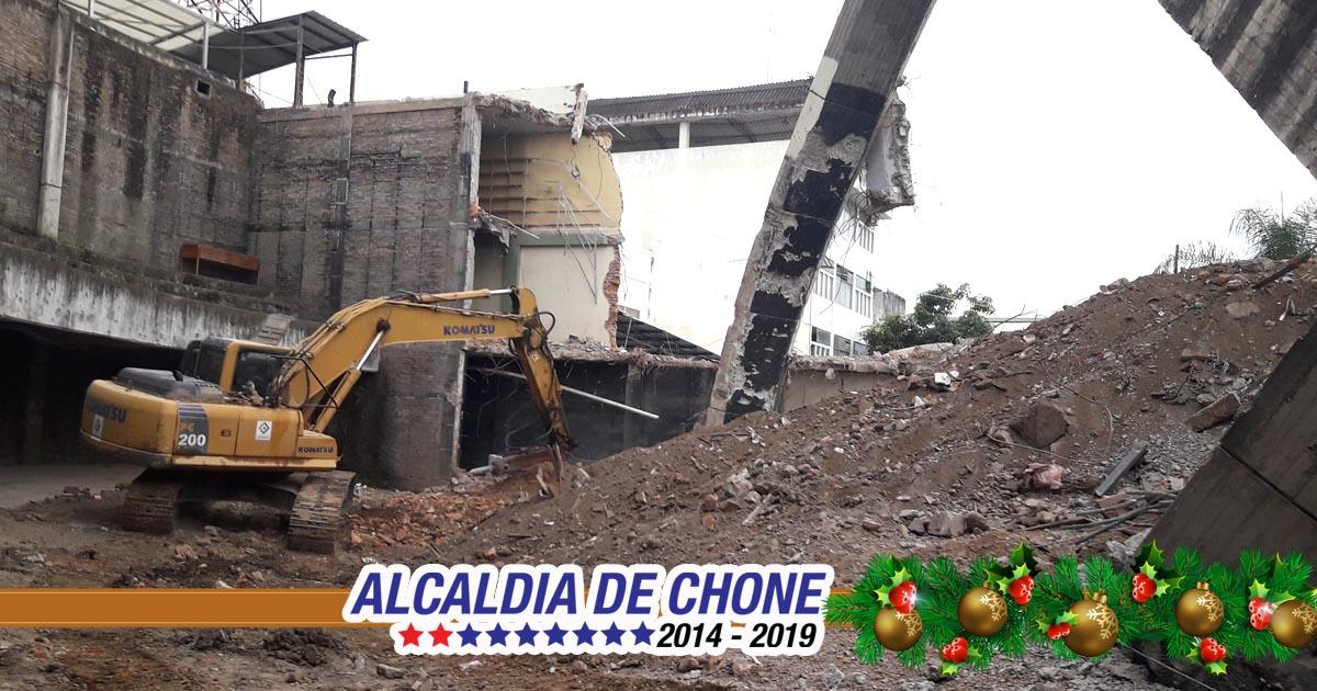 Concluyeron trabajos de demoliciones de infraestructuras