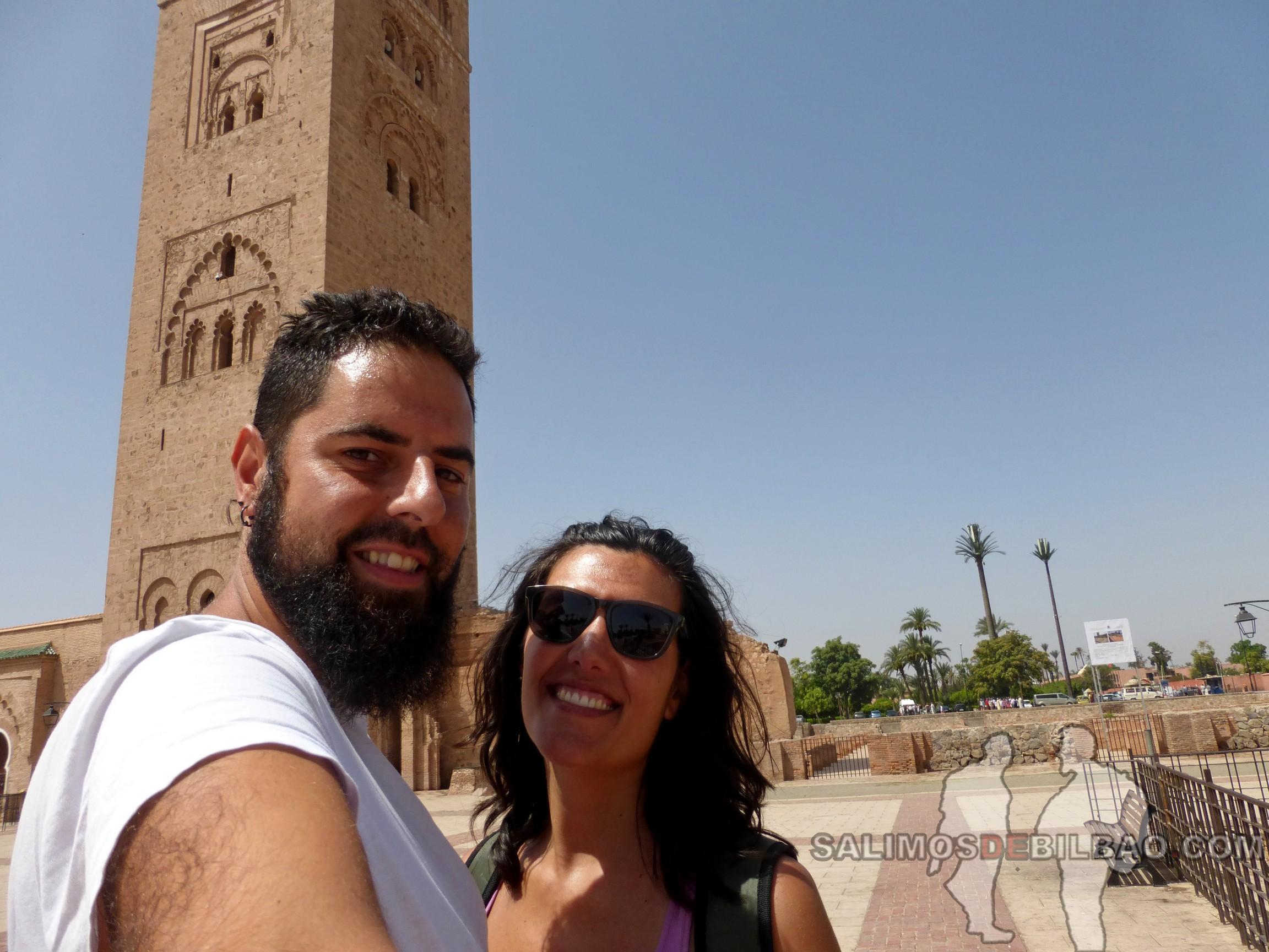 731. Katz y Saioa, Mezquita Koutoubia, Marrakech