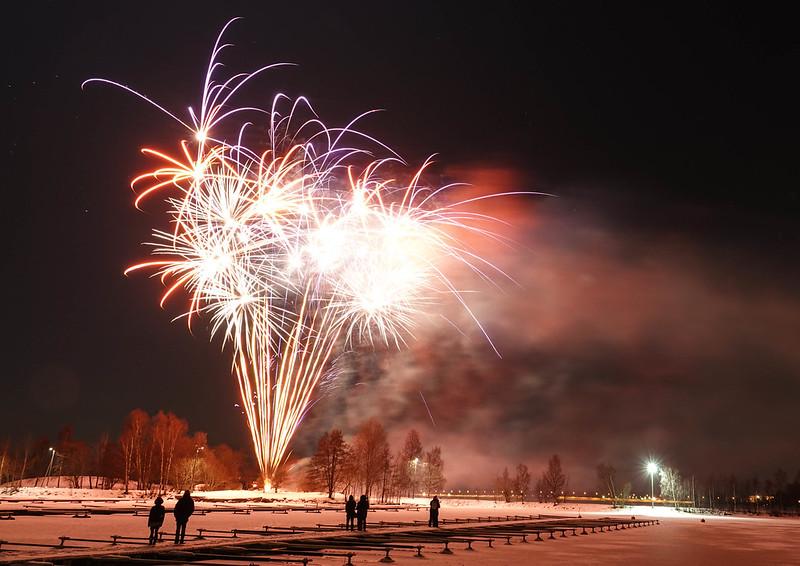 Vaasa New Year Fireworks ilotulitus