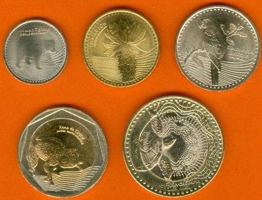 Sada mincí Kolumbia 50-100-200-500-1.000 Pesos 2013-14