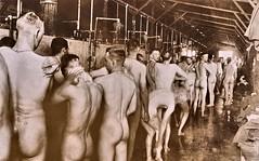 Medical Dept. Baths  US Doughboys washing up somewhere in England - 1918 NARA165-WW-267C-002