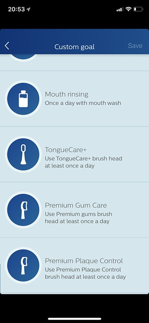 Philips Sonicare iOS App - Custom Goal