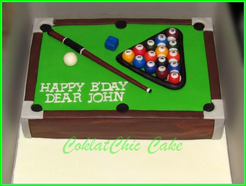 Cake Meja Billiard JOHN 18x27cm