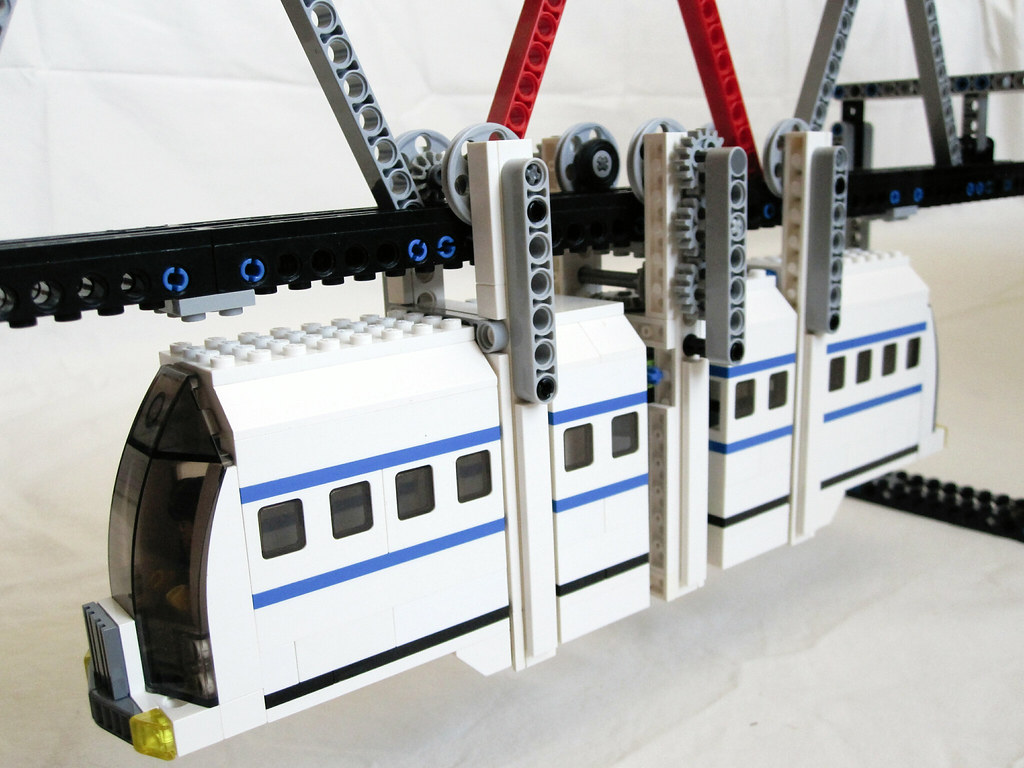 Suspended Lego monorail