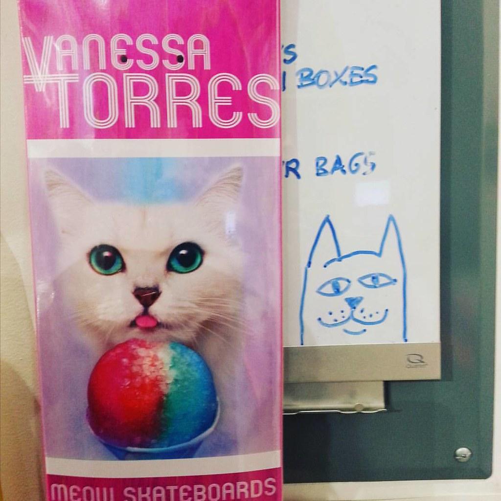 Meow deck! #meowskateboards #kittiesrule #vanessatorres
