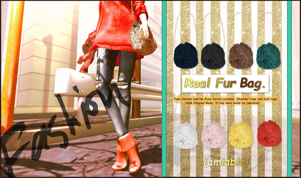 {amiable}Real Fur Bag@ the N°21(50%OFF SALE).