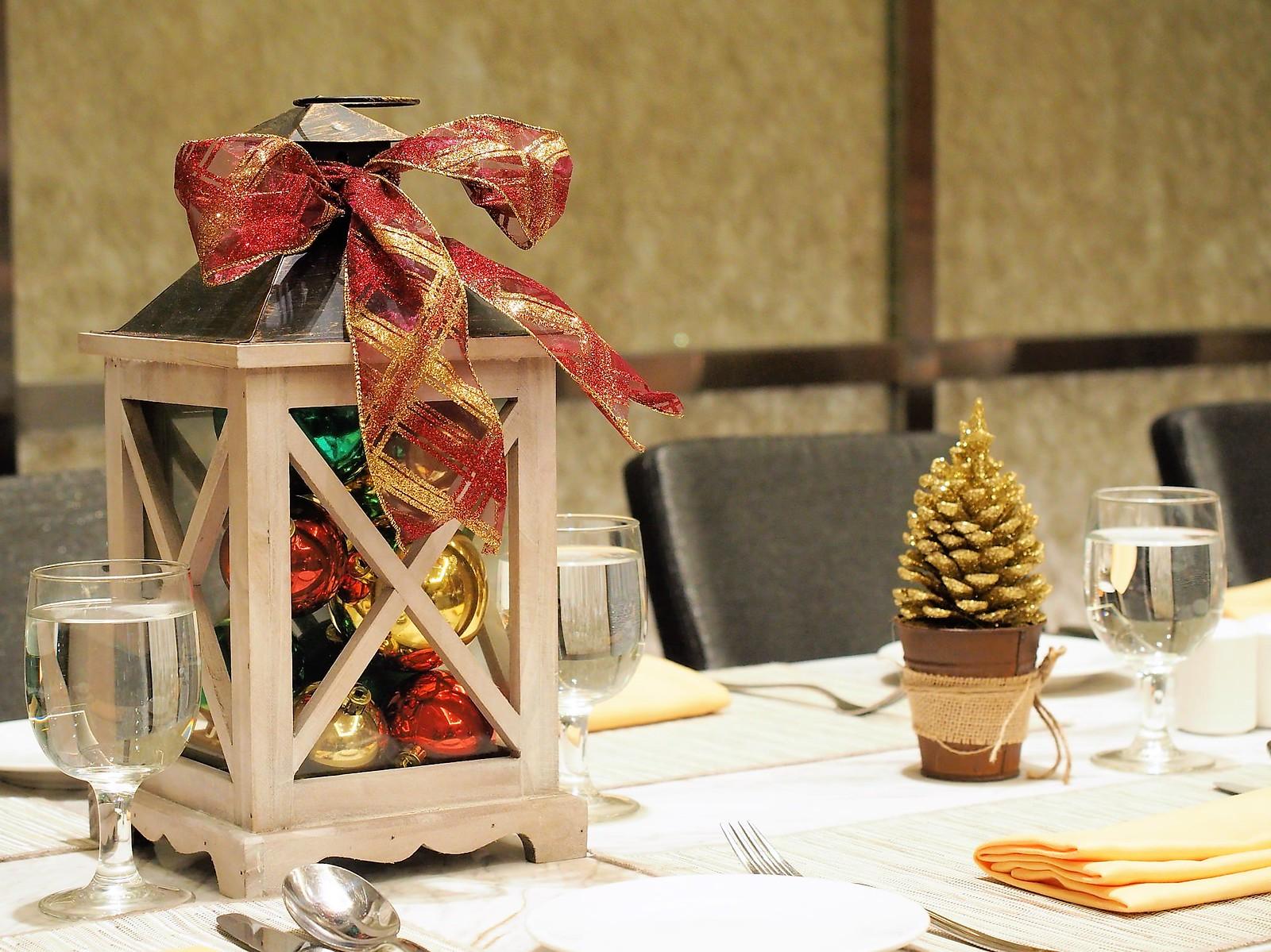 Christmas Decoration on dining table at Feast @ Sheraton Petaling Jaya