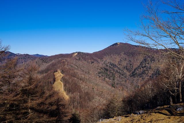 雲取山へ続く石尾根縦走路@七ツ石山
