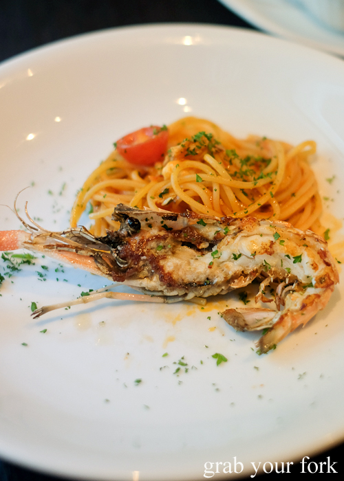 The famed scampi spaghetti at Fratelli Paradiso in Potts Point