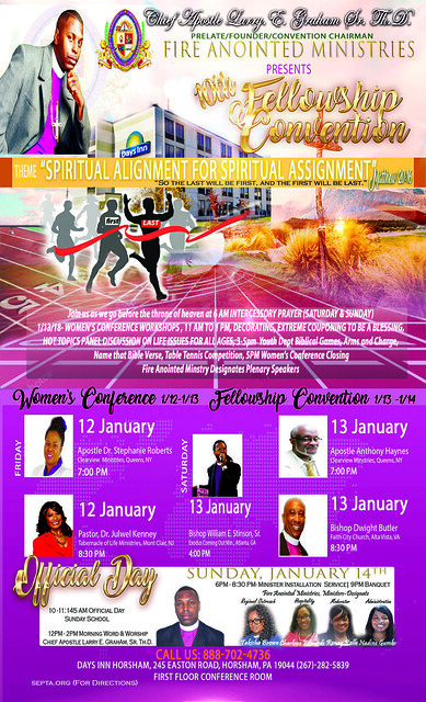 2018 Women's Conference and Convention Horsham PA flyer