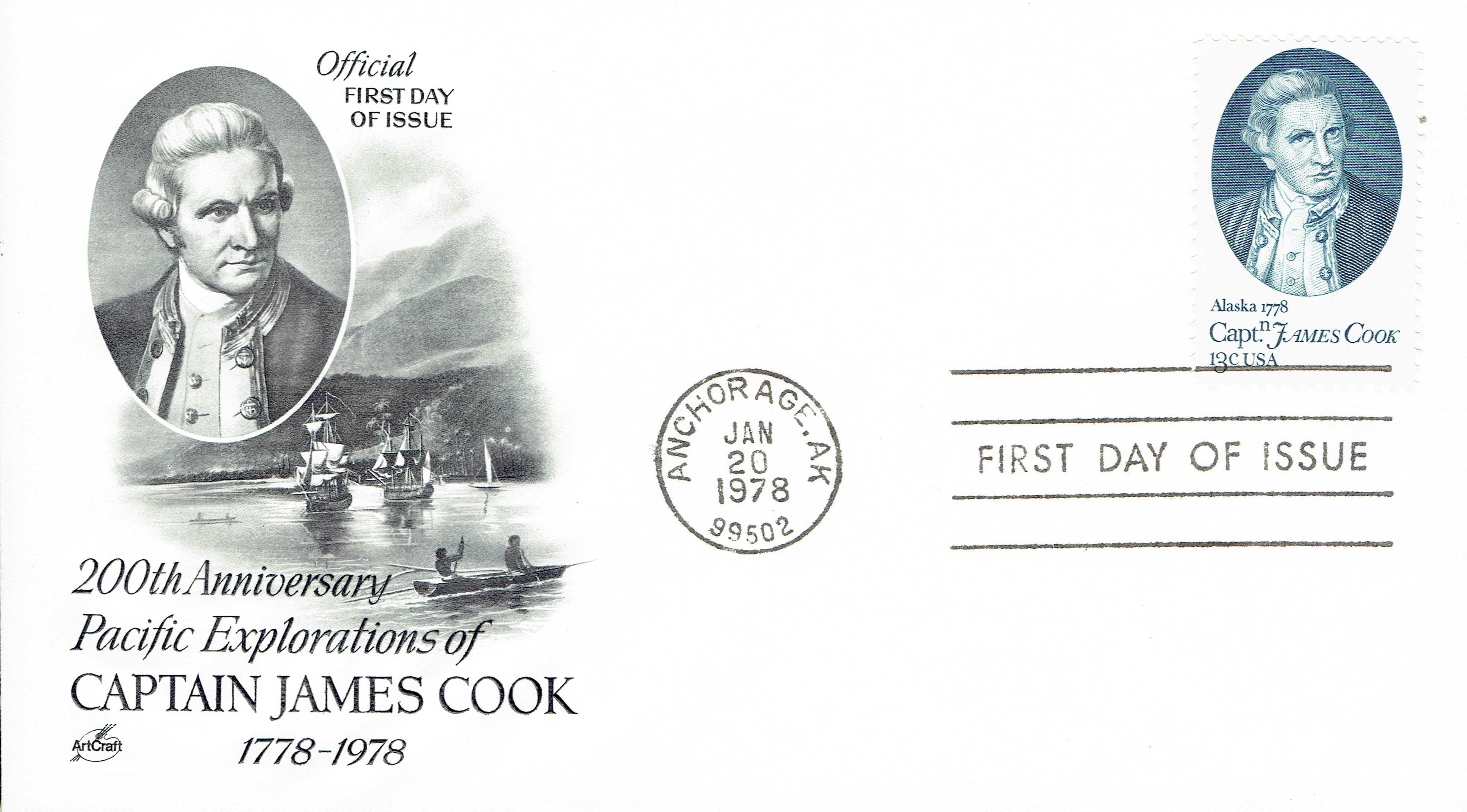 United States - Scott #1732 (1978): First Day Cover, ArtCraft cachet