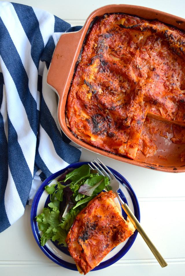 Stupidly Simple Meat-free Lasagna #lasagna #meatfreemonday #vegetarian