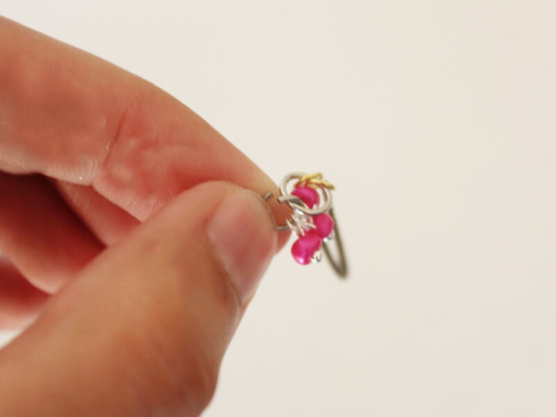 attachign charms to ring