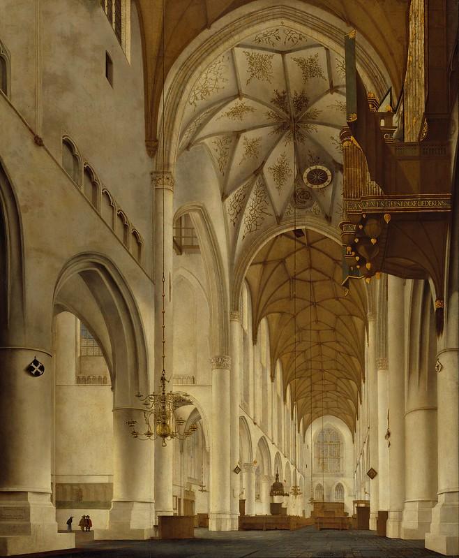 Pieter Jansz. Saenredam - The Interior of St Bavo's Church, Haarlem (the 'Grote Kerk') (1648)