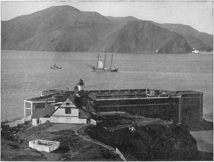 Golden Gate, circa 1891. The photo was first published in Shepp's Photographs of the World by James W. and Daniel B. Shepp (Globe Bible Publishing Co. Philadelphia, 1891). The original caption reads: