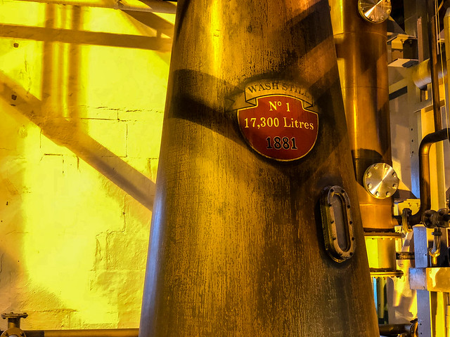 137 yr old Wash Still No.1 @ Bruichladdich Distillery