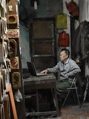 Craftsman in Hanoi - a picture as by Carl Spitzweg
