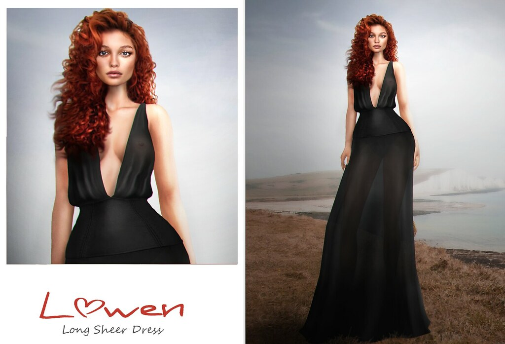 Lowen – Long Sheer Dress @Mainstore