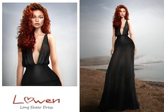 Lowen - Long Sheer Dress @Mainstore