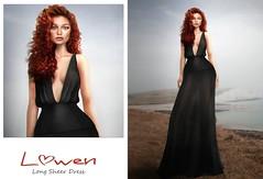 Lowen - Long Sheer Dress @Mainstore