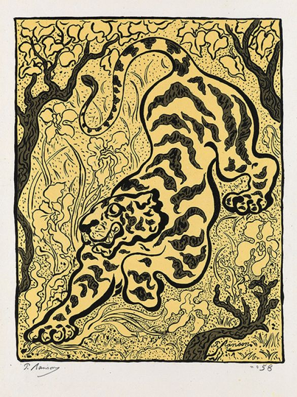 PaulRansonTigreDansLesJunglesColorLithograph1893