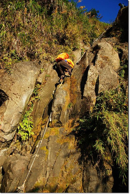 乾溪谷垂直石壁地形 7
