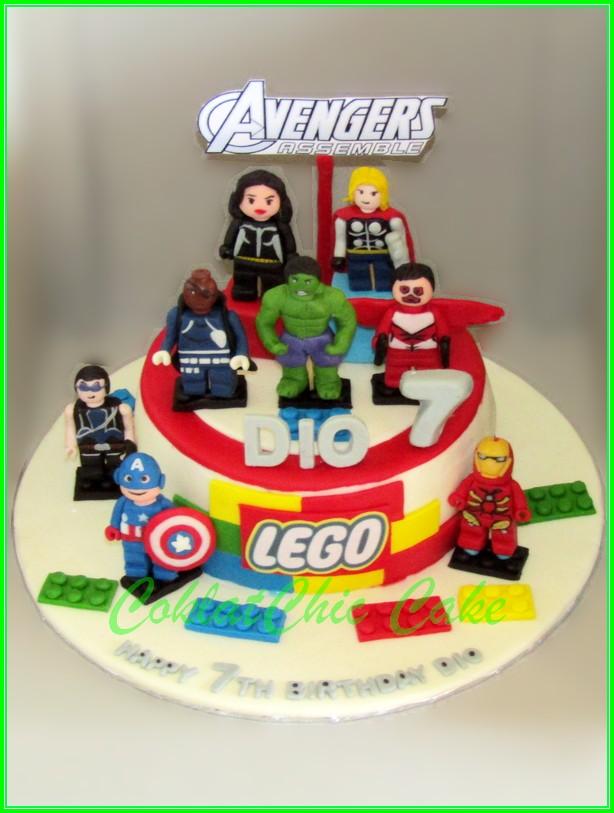 Cake Lego The Avengers DIO 15cm