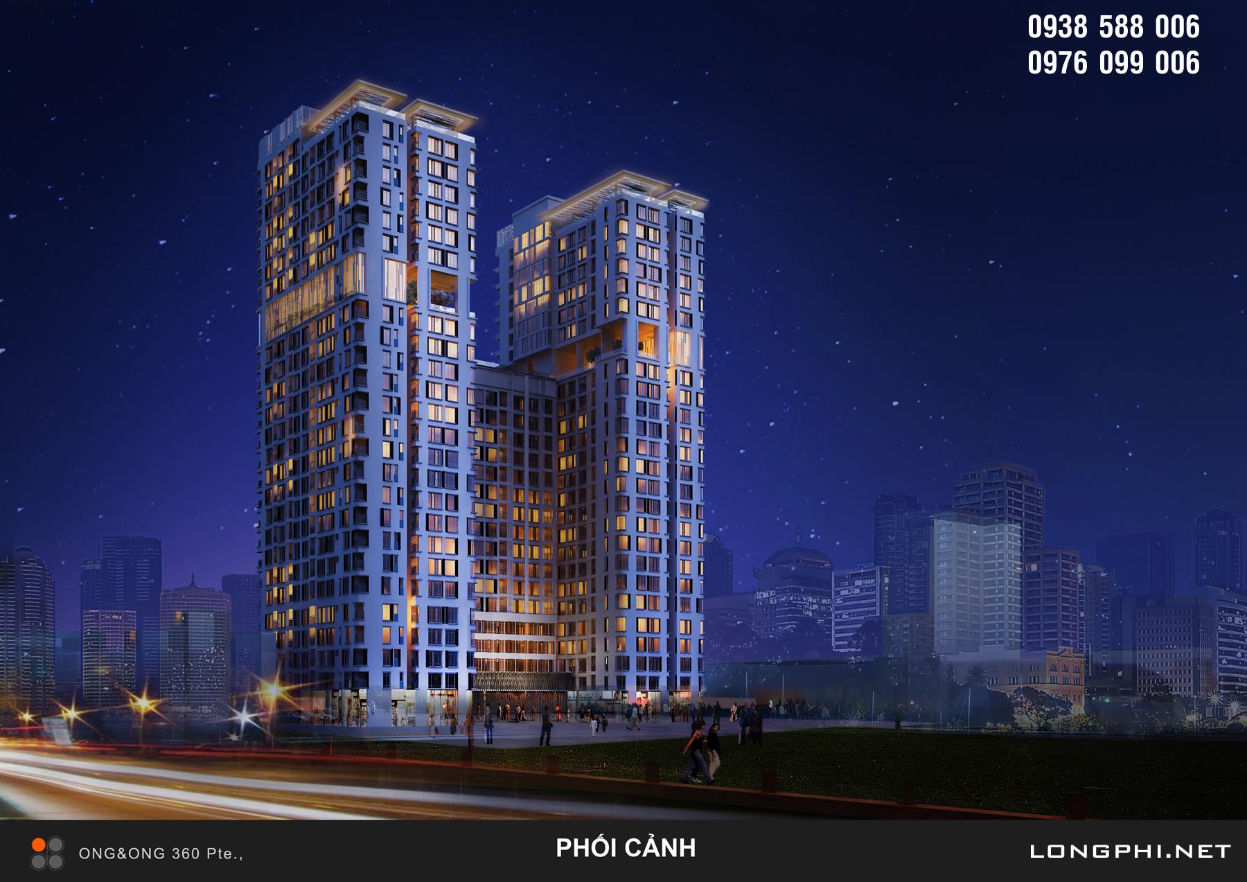 Phối cảnh dự án căn hộ The Golden Star của Hưng Lộc Phát.
