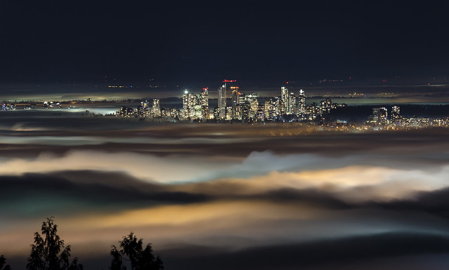 The City Reaches Up Through the Fog