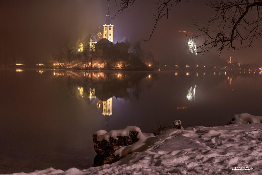 Lake Bled At Night Zkbld Flickr