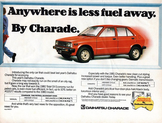 1981 Daihatsu Charade 5 Door Hatchback Aussie Original Magazine Advertisment