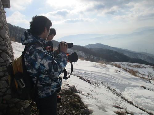 天気はまあまあ。 高そうなカメラ使っちゃって